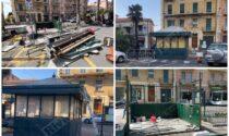 Demolito lo storico chiosco di piazza del Mercato a Vallecrosia