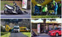 Schianto scooter e auto sull'Aurelia: ragazzo trasportato in elicottero al Santa Corona