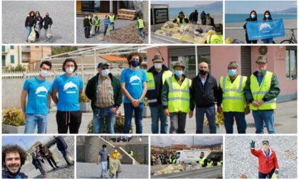 La pulizia delle spiagge dei volontari di BordiEventi. Foto