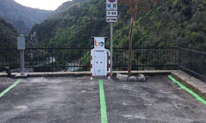Nel parcheggio di Airole installata colonnina per ricarica elettrica