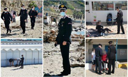 Furbetti di Pasqua in zona rossa foto e video del blitz dei carabinieri nelle spiagge