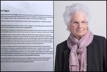 Sori, il Comune non conferisce la cittadinanza onoraria alla senatrice Liliana Segre