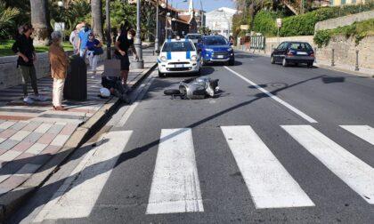 Incidente in corso Imperatrice scooterista a terra