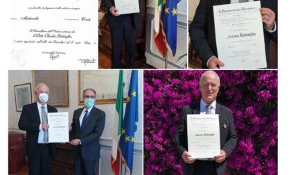 Claudio Battaglia della Lilt nominato Cavaliere della Repubblica