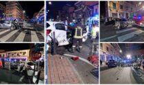 Schianto sull'Aurelia a Vallecrosia: 3 auto coinvolte e diversi feriti. Foto e video