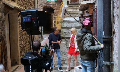 L'attore pugliese Uccio De Santis a Dolceacqua per girare alcuni sketch