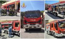 Vigili del fuoco: inaugurato un nuovo mezzo al distaccamento di Sanremo