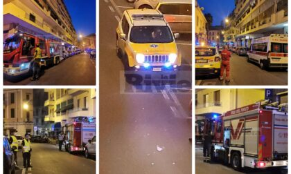 Ventilatore in corto circuito, principio di incendio in via San Francesco a Sanremo