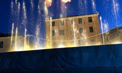 Lo spettacolo delle fontane danzanti accende l'estate imperiese