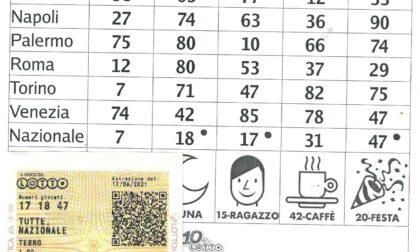 Vede i numeri sulla ciclabile e li gioca al lotto, vince più di 4 mila euro