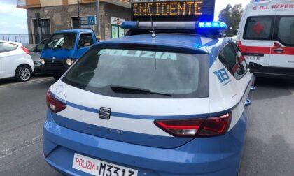 Scooter si scontra con auto in Viale Matteotti