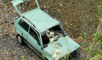 Precipita con l'auto nel torrente Nervia: 20enne soccorso dall'elicottero