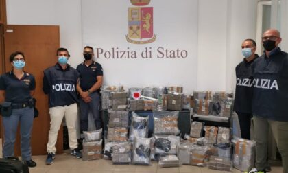 Operazione antidroga della polizia a Sanremo, sequestrati 250 kg su un tir