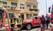 Incendio in un'abitazione a Sanremo