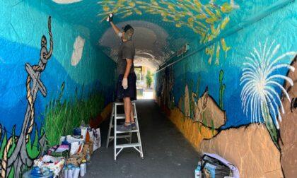 A Cervo un murales che racconta i fondali del ponente