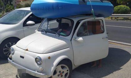 Minorenne senza patente trovato a Ventimiglia su una Fiat 500 d'epoca rubata a Diano