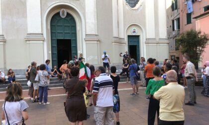 A Imperia flash mob contro il green pass