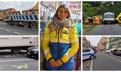 Travolta da un camion del movimento terra a Vallecrosia: grave presidente della Croce Azzurra