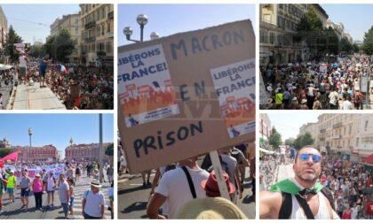 Una delegazione imperiese alla manifestazione no green pass di Nizza