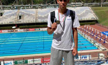 Campionati italiani di nuoto,  bronzo per Lorenzo Giordano