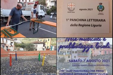 Prima panchina letteraria della Liguria, questa sera l'inaugurazione