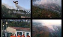 Incendio a Cisano ancora in corso, 50 volontari al lavoro