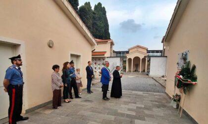 Il sindaco Chiappori ha reso omaggio alla lapide dell'Alpino Langella