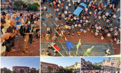Manifestazione per la sicurezza a Ventimiglia
