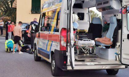 Scontro auto-moto in via De Colli a Bordighera Alta, ferito giovane motociclista