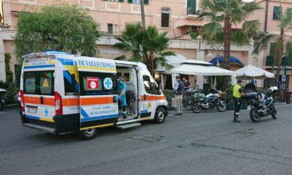 Investito un pedone in centro a Bordighera, allertato anche l'elicottero