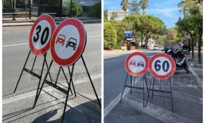 Corretto il limite di velocità in centro a Ospedaletti: da 60 passa a 30 km/h