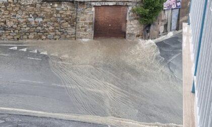 Fiume d'acqua in Via Solaro a Sanremo