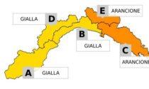 Allerta gialla sul Ponente Ligure